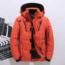 Brand Mens Down Jacket Fashion Personality Zipper Pocket 2020 Winter Mens Jackets and Coats Thick Warm Hooded Loose Down Jacket